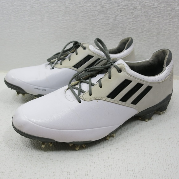 ADIDAS ADIZERO GOLF Shoes Sz 11.5 Men White Gray Minor Wear